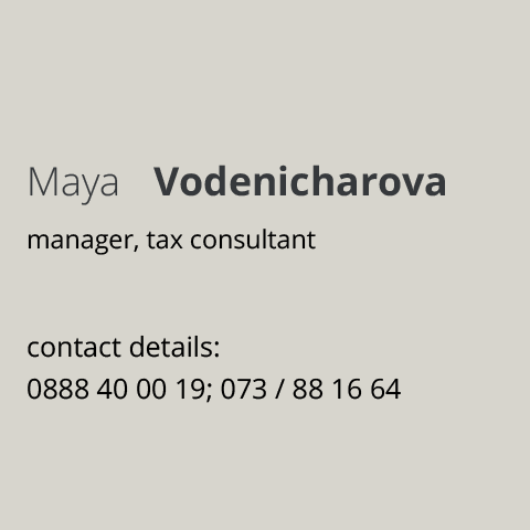 COMPANY ACCOUNTING Maia Vodenicharova