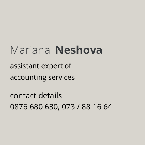 assistant expert of accounting services Blagoevgrad Mariana Neshova