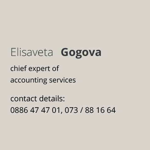 chief expert of accounting services Elisaveta Gogova